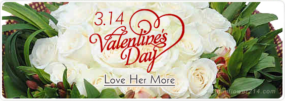 Send White Valentine's Flowers,Gifts,Cakes to China