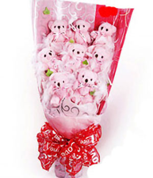 small bear bouquet, teddy bear flowers