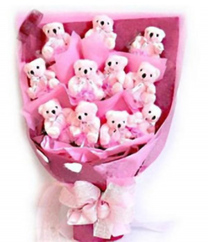 Bears Bouquet - teddy Bears to China