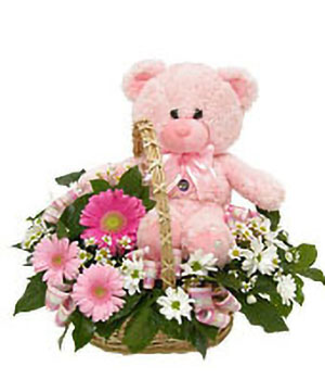 Lovely pink - flowers to China