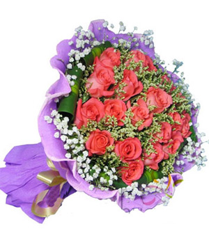 True love lasts for ever bouquet, 19 pink roses