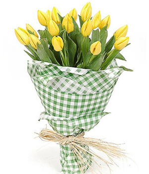 18 Yellow Tulips