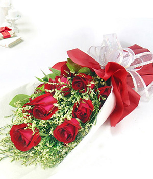 9 red roses for no regrets