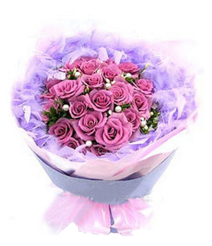 China flowers delivery: 24 purple roses arrangements