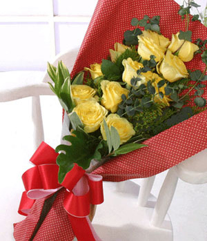 China Flowers - yellow roses