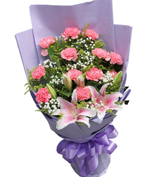 Thank You In May: Carnations flower bouquet delivery