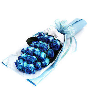 18 Blue Roses Bouquet