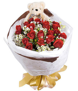 19 rose bouquet for splendid met