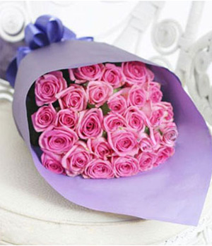 28 stems purple roses
