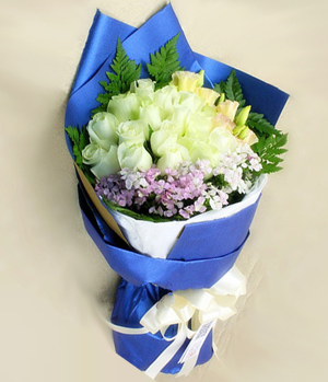 China Flower Delivery, 19 white roses