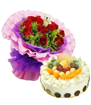 Flower & Cake Combination, Delivery In China