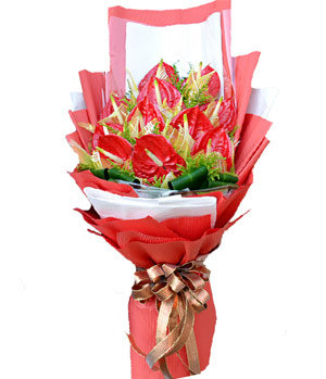 Life is Booming: Anthurium Flower Bouquet to China
