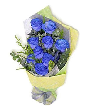 Impulsively - 9 Kunming blue roses