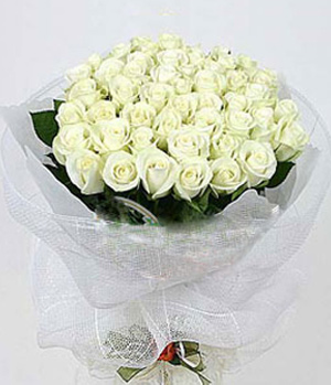 Pure Love 33 white roses to China
