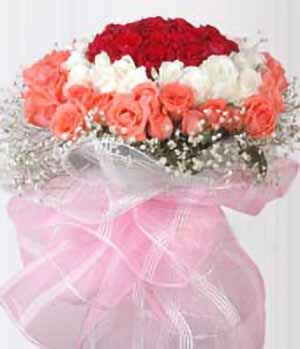 Kiss Love - 77 roses bouquet