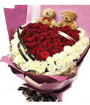 66 Red Roses, 33 White Roses
