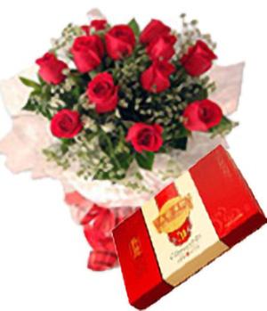 红玫瑰+月饼