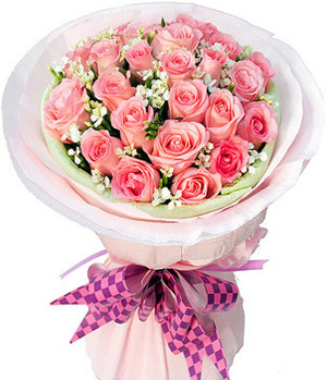 19 pink roses