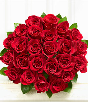 Two Dozens Red Roses Bouquet