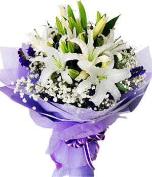 Five stalks perfume white lilies