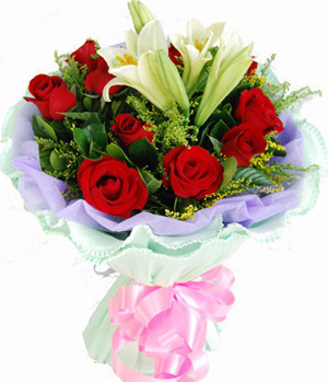 Easter lilies and roses delivered in China