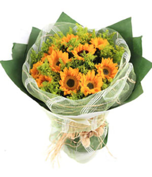 Sunflowers bouquet, 9 stems