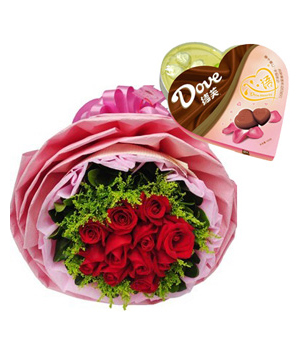 Send flowers with chocolate to China