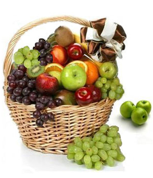 Send flowers fruit basket