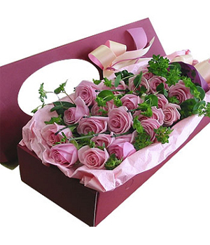 China florist - 19 purple roses delivery