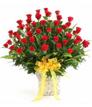 Florist China - 48 stems rose love basket delivery