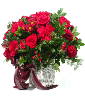 China florists - beautiful flowers basket arrangements