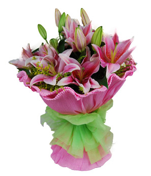 Flowers To China - Pink Perfume Lilies
