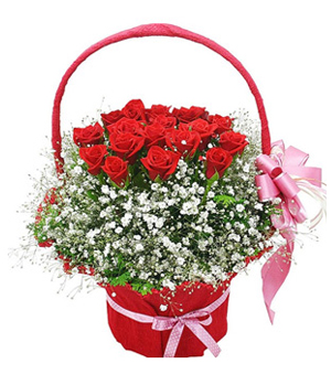 Treasure forever flowers basket