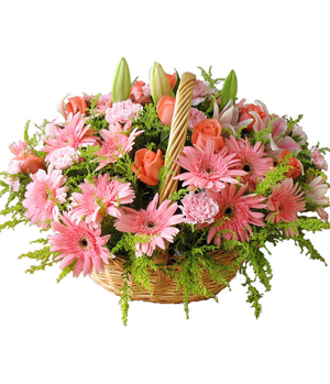 mixed flowers for best wishes