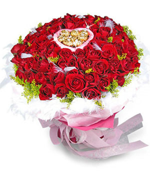 99 bouquet with chocolate delivery China