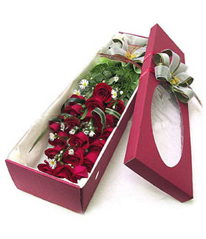 Rose with gift box delivery to China