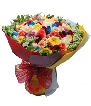 Flowers to China - Super 99 roses bouquet