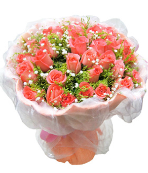 Flower Delivery China - 36 Pink Roses