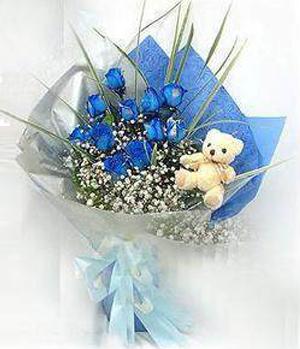Blue love- blue roses