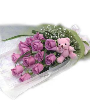 11 purple roses
