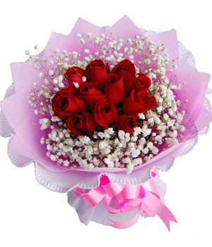 Flower delivery service in China, Red Roses For Love