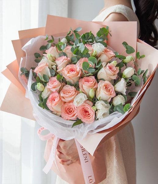 爱你-33支粉玫瑰